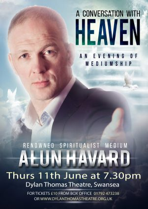 Poster for A CONVERSATION WITH HEAVEN – featuring Alun Havard